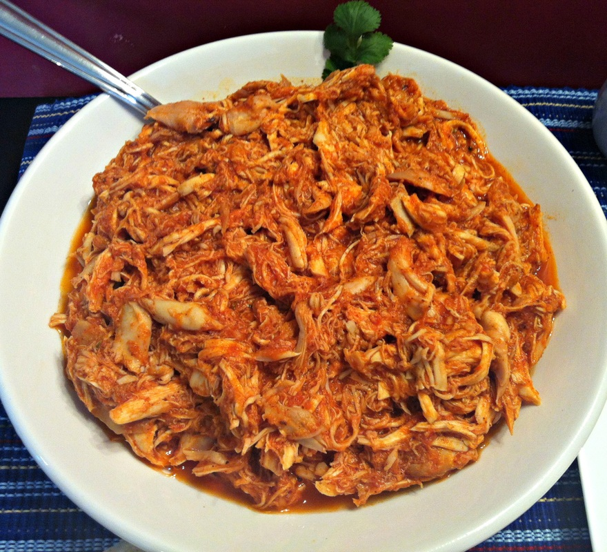 Chicken Filling ~ Shredded seasoned chicken for tacos, burritos, or enchiladas ~ The Complete Savorist