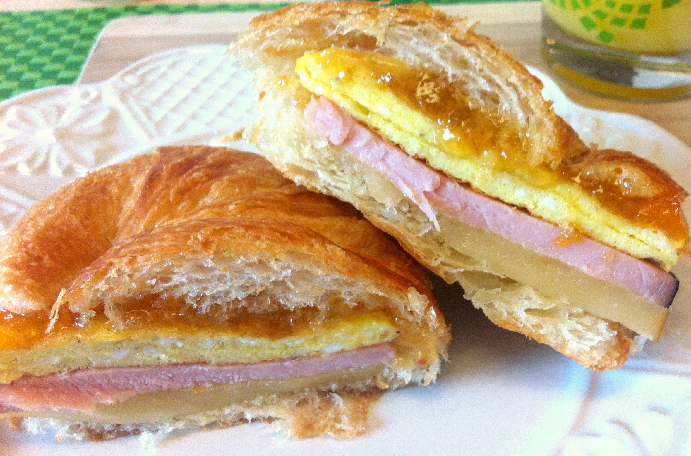 Ham Egg & Swiss Croissant-wiches - The Complete Savorist