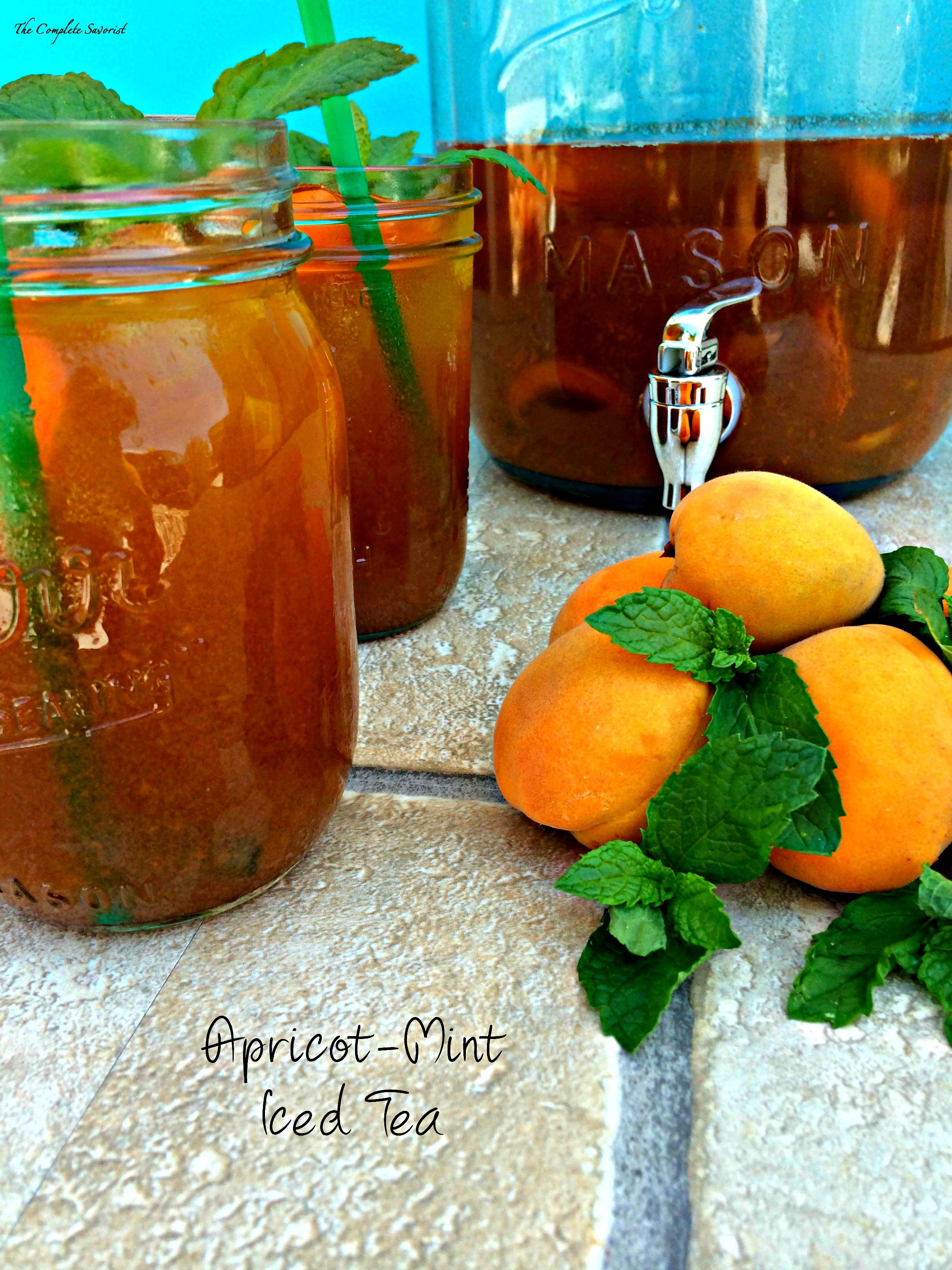 Apricot-Mint Iced Tea - The Complete Savorist