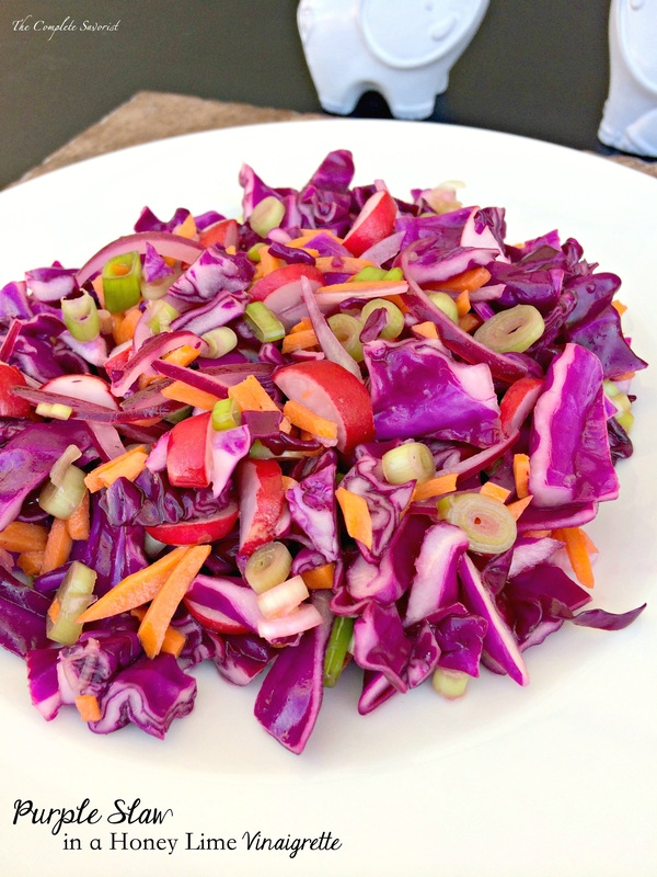 Purple Slaw in a Honey-Lime Vinaigrette ~ The Complete Savorist
