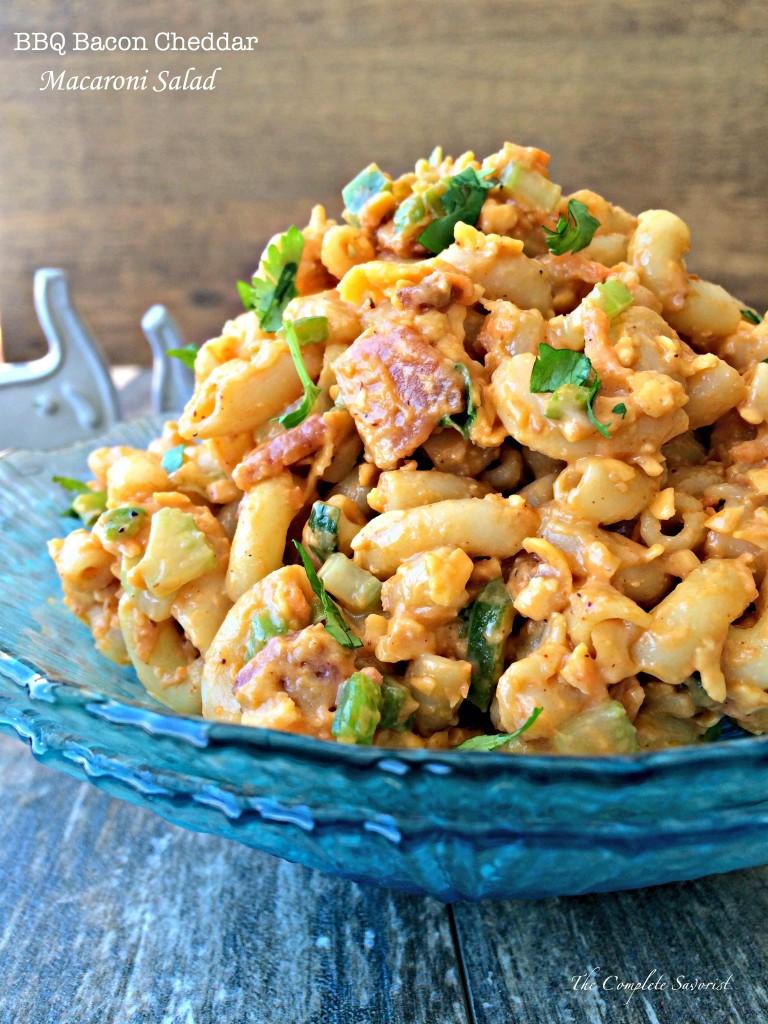 BBQ Bacon Cheddar Macaroni Salad - The Complete Savorist