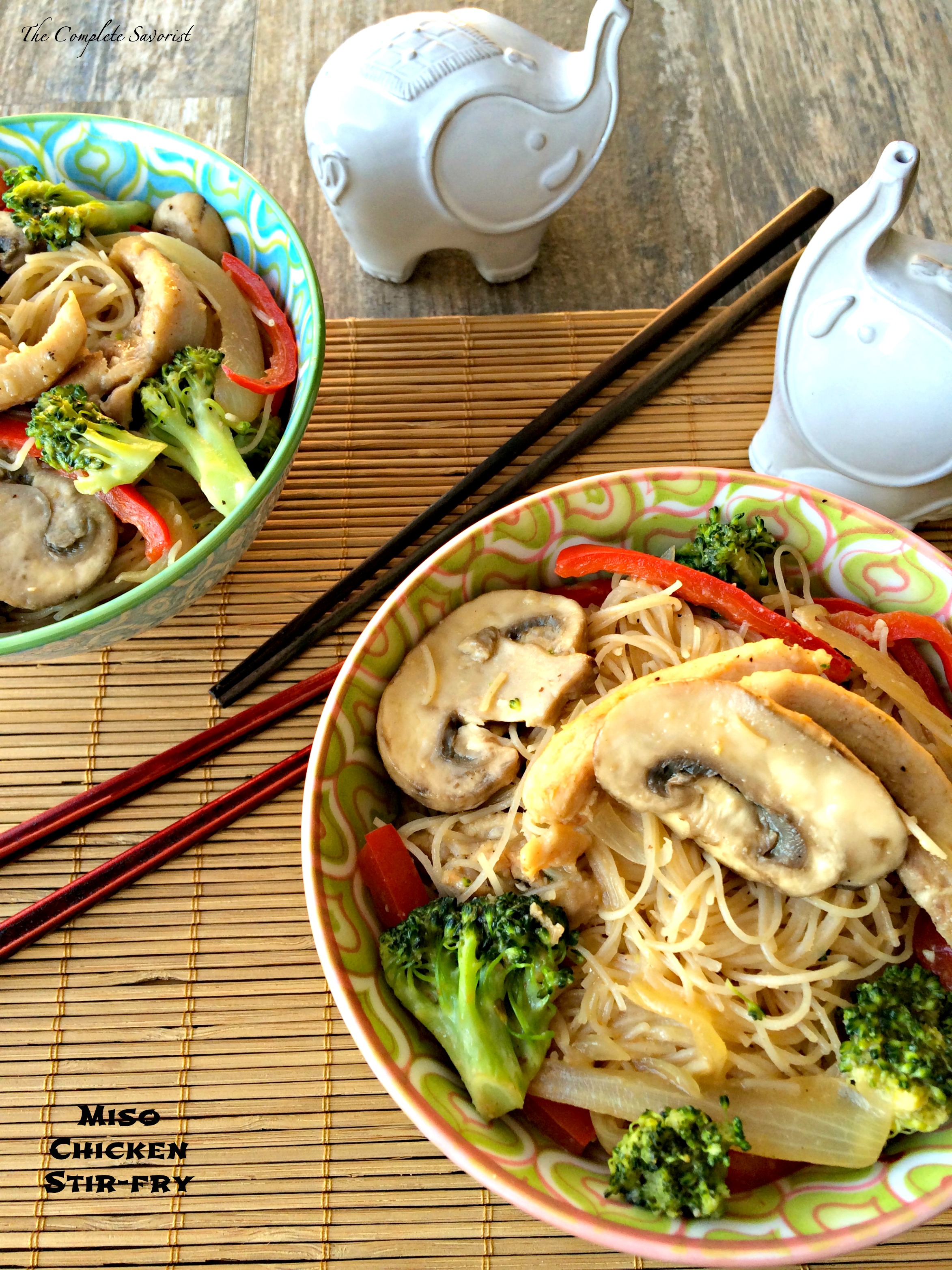 Miso Chicken Stir-fry ~ Quick Stir fry with chicken, noodles, and ...