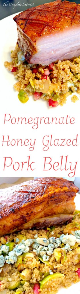 Pomegranate-Honey Glazed Pork Belly ~ The Complete Savorist