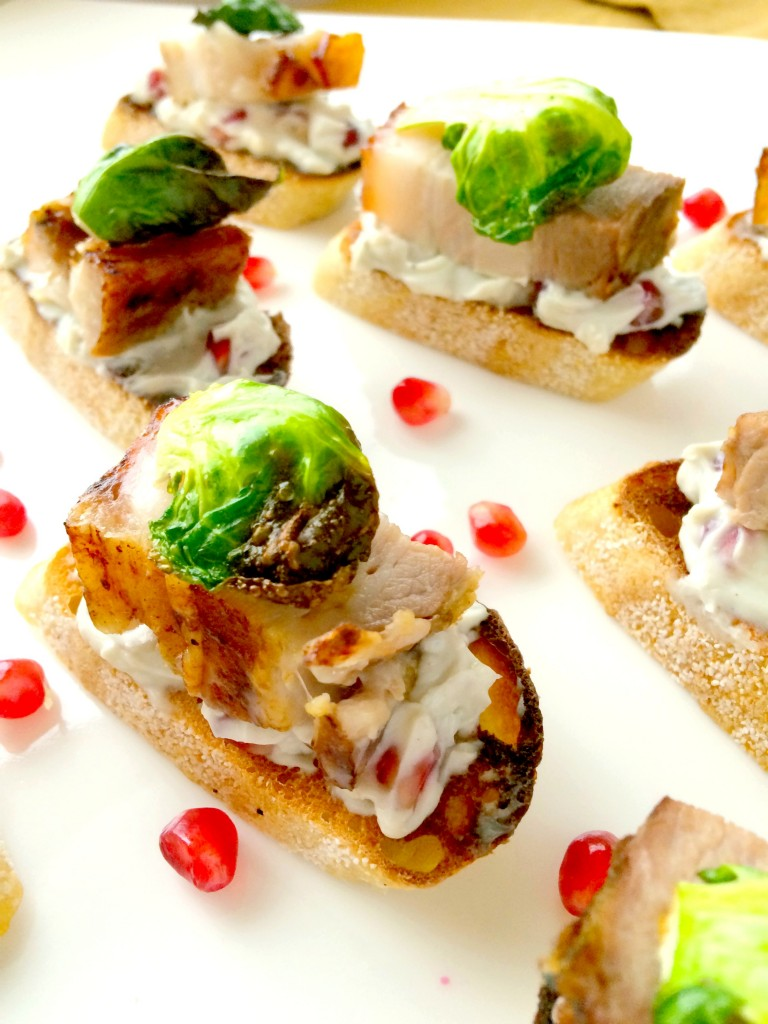 Crostini With Roast Beef And Pomegranate Recipes — Dishmaps