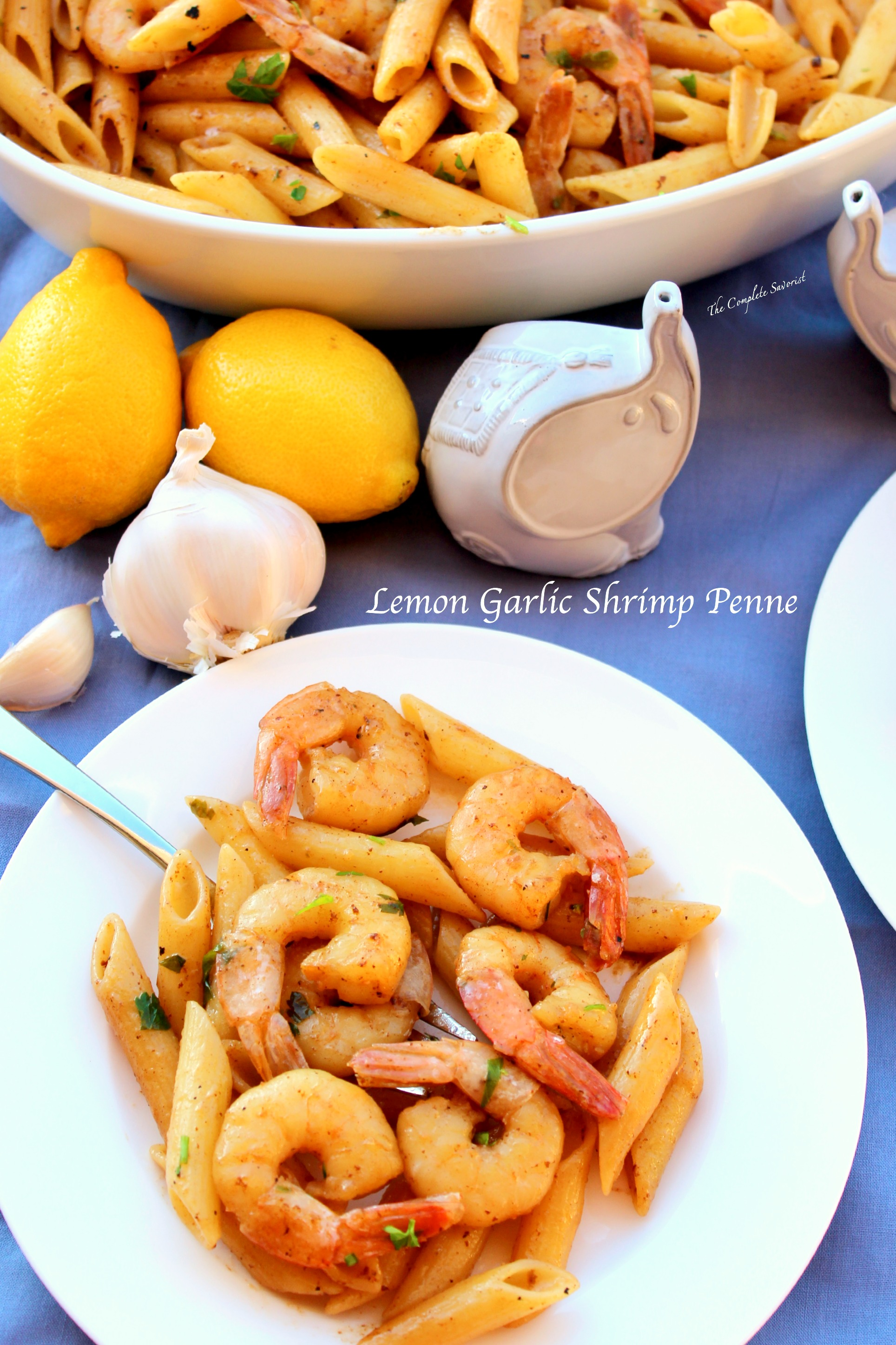 Lemon garlic shrimp penne the complete savorist forumfinder Gallery