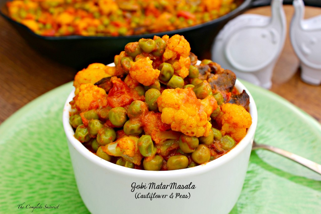 Gobi matar masala cauliflower and peas the complete savorist for Good side dishes for grilled chicken