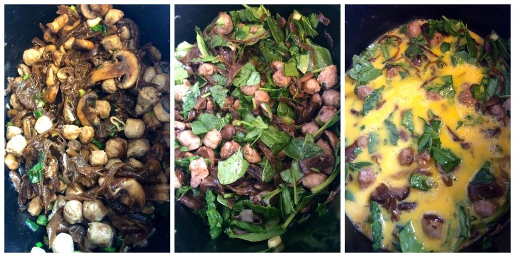 Sausage and Mushroom Frittata