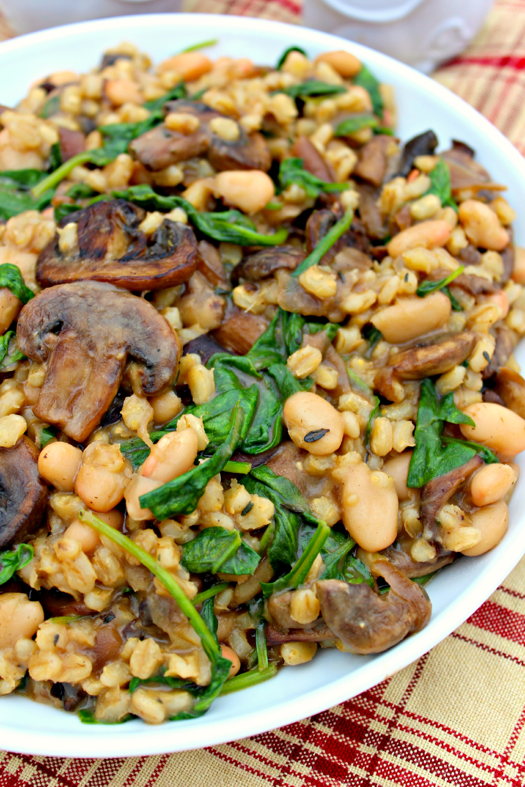 barley spinach and mushrooms print author michelle ingredients barley ...