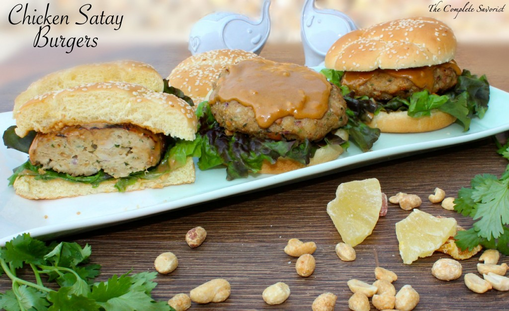 Chicken Satay Burgers - The Complete Savorist