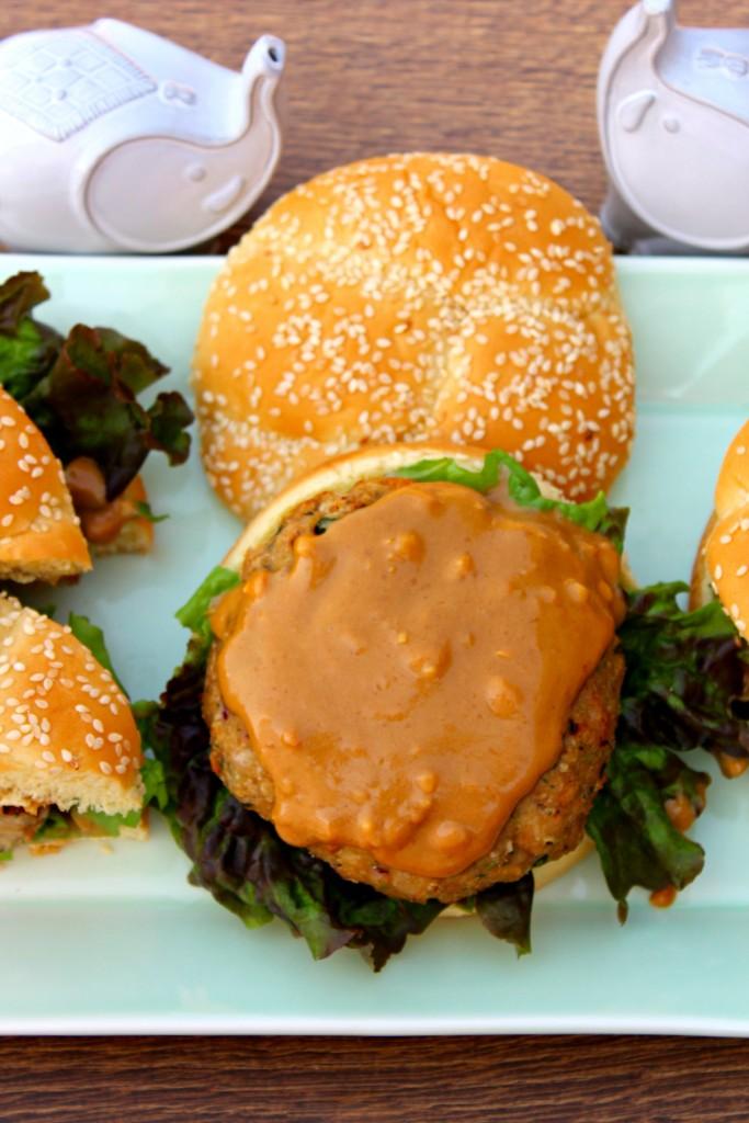 Chicken Satay Burgers - The Complete Savorist