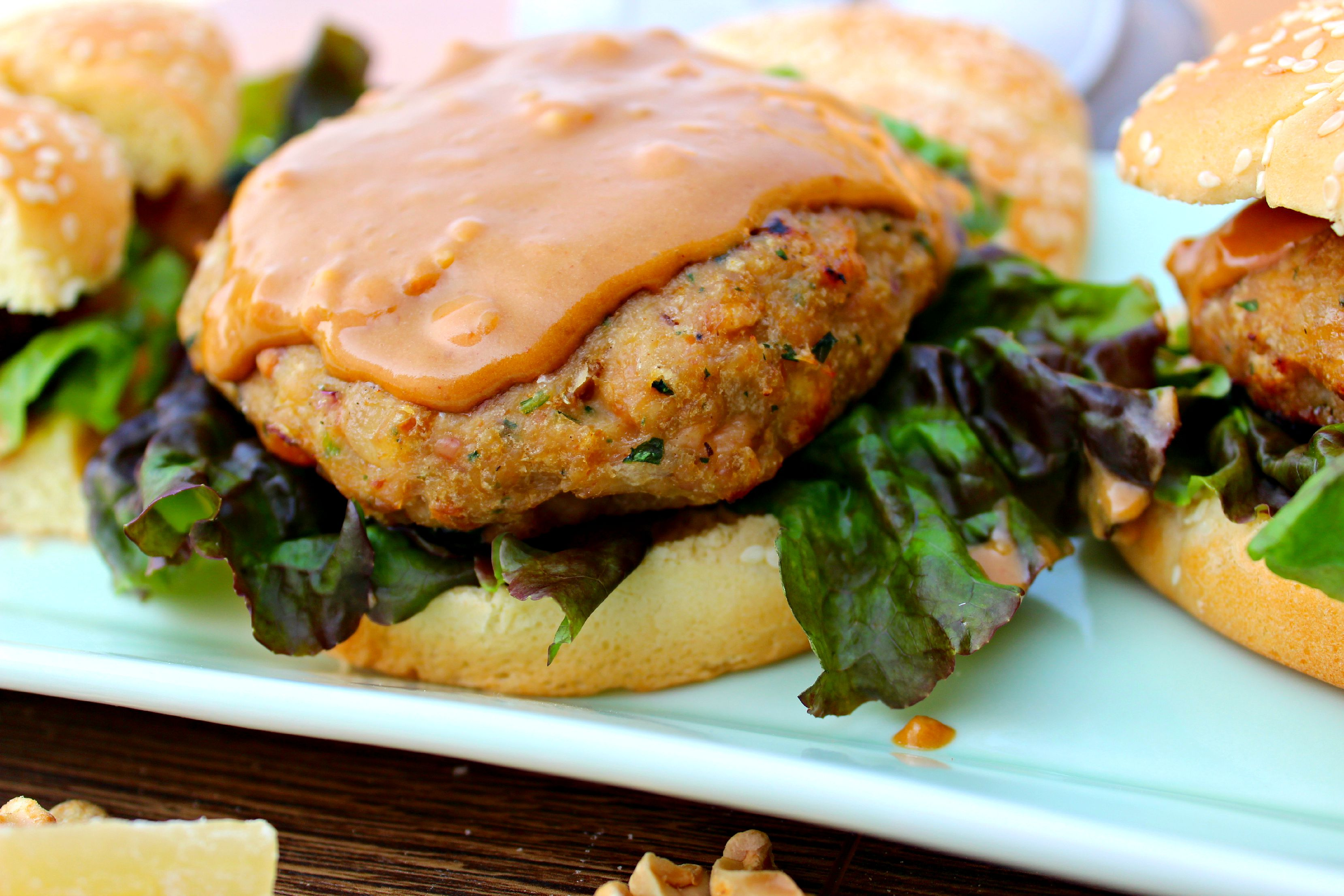 ... www.thecompletesavorist.com/daily-savorings-blog/chicken-satay-burgers