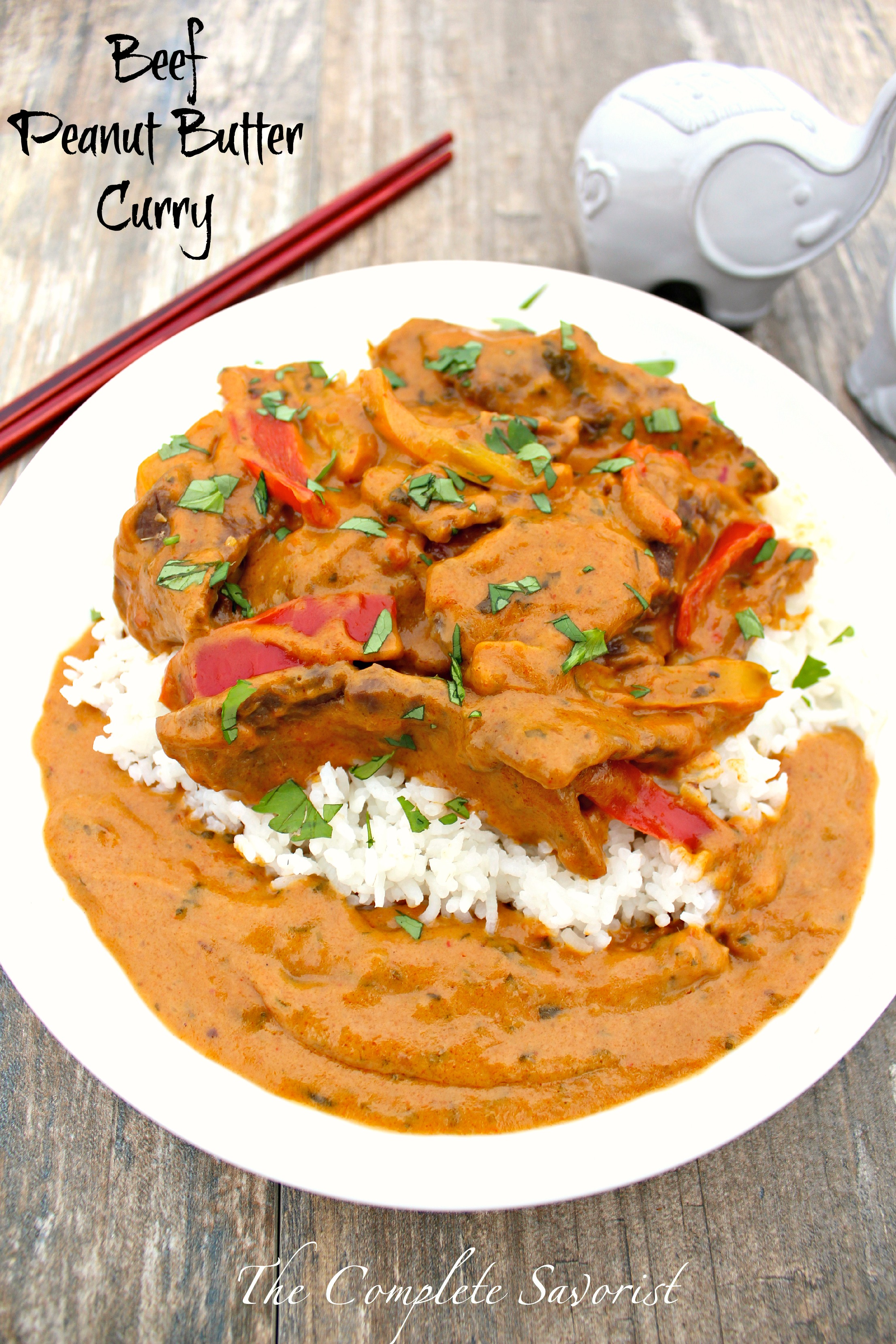 Beef Peanut Butter Curry ~ Thick and rich Thai-style curry with beef ...