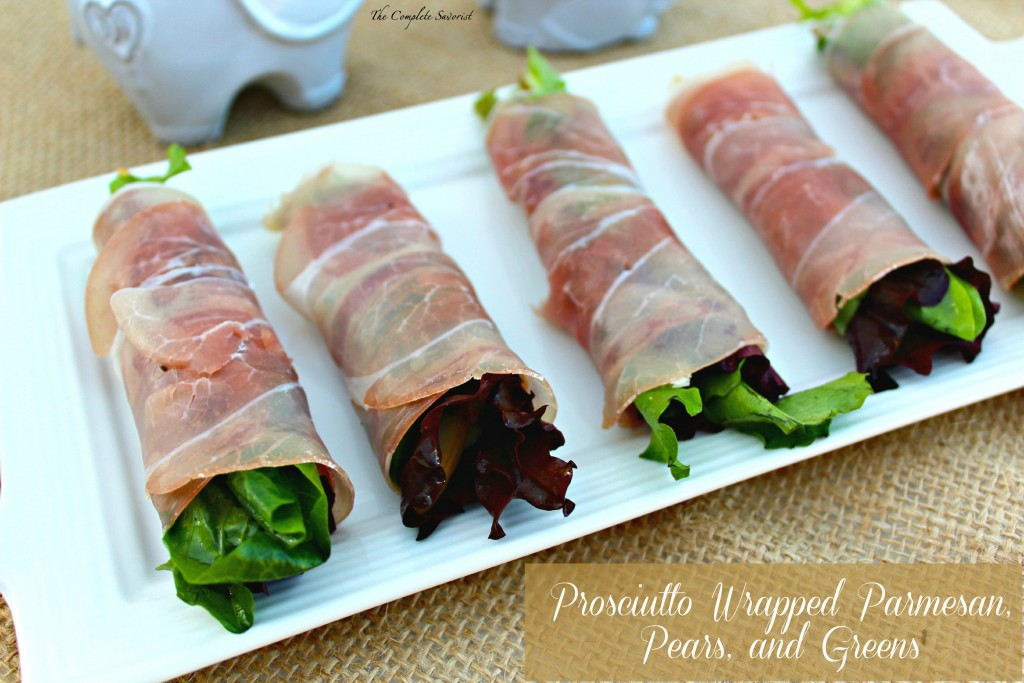 Prosciutto Wrapped Parmesan, Pears, and Greens - The ...