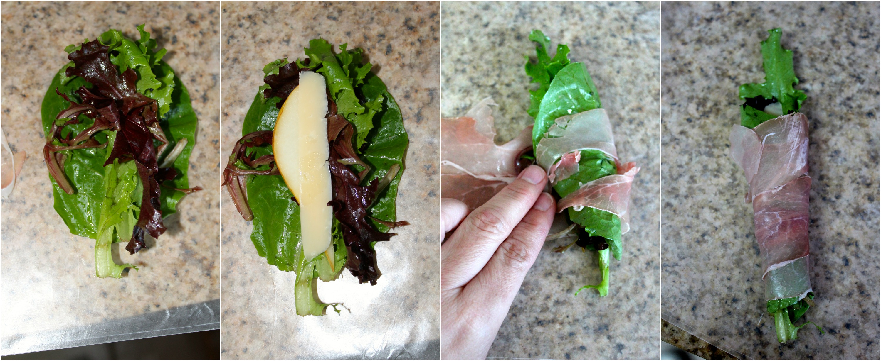 Prosciutto Wrapped Parmesan, Pears, and Greens - A slice of prosciutto ...