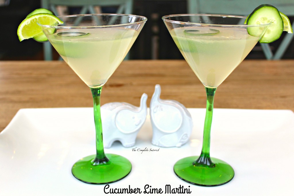 Cucumber lime martini the complete savorist for Drinks with simple syrup and vodka