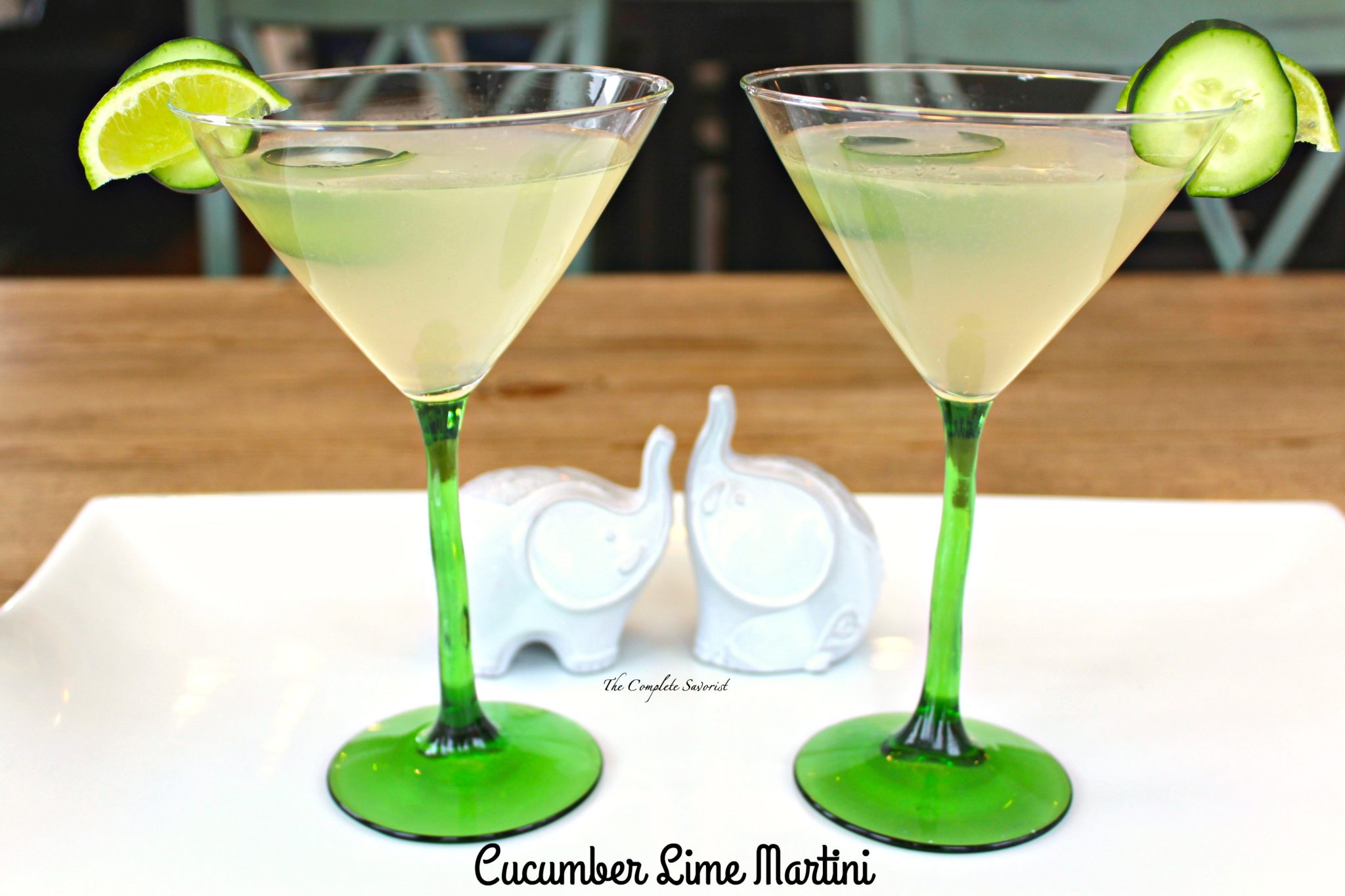 Cucumber Lime Martini ~ Cucumber vodka, fresh squeezed lime, and simple syrup make for a seriously refreshing cocktail ~ The Complete Savorist