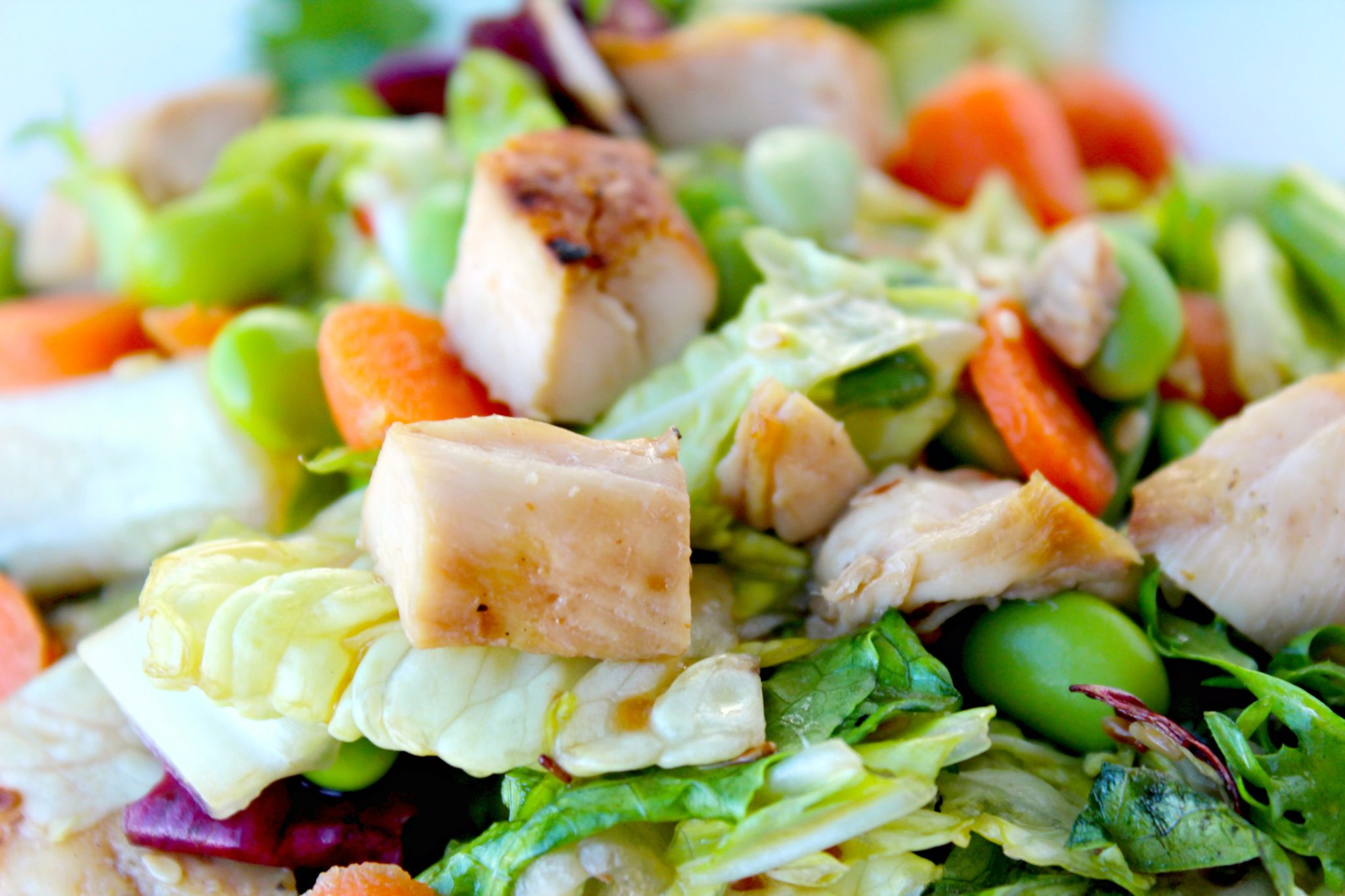 Asian-Inspired Chicken Salad with Almond-Sesame Dressing ~ Mixed ...