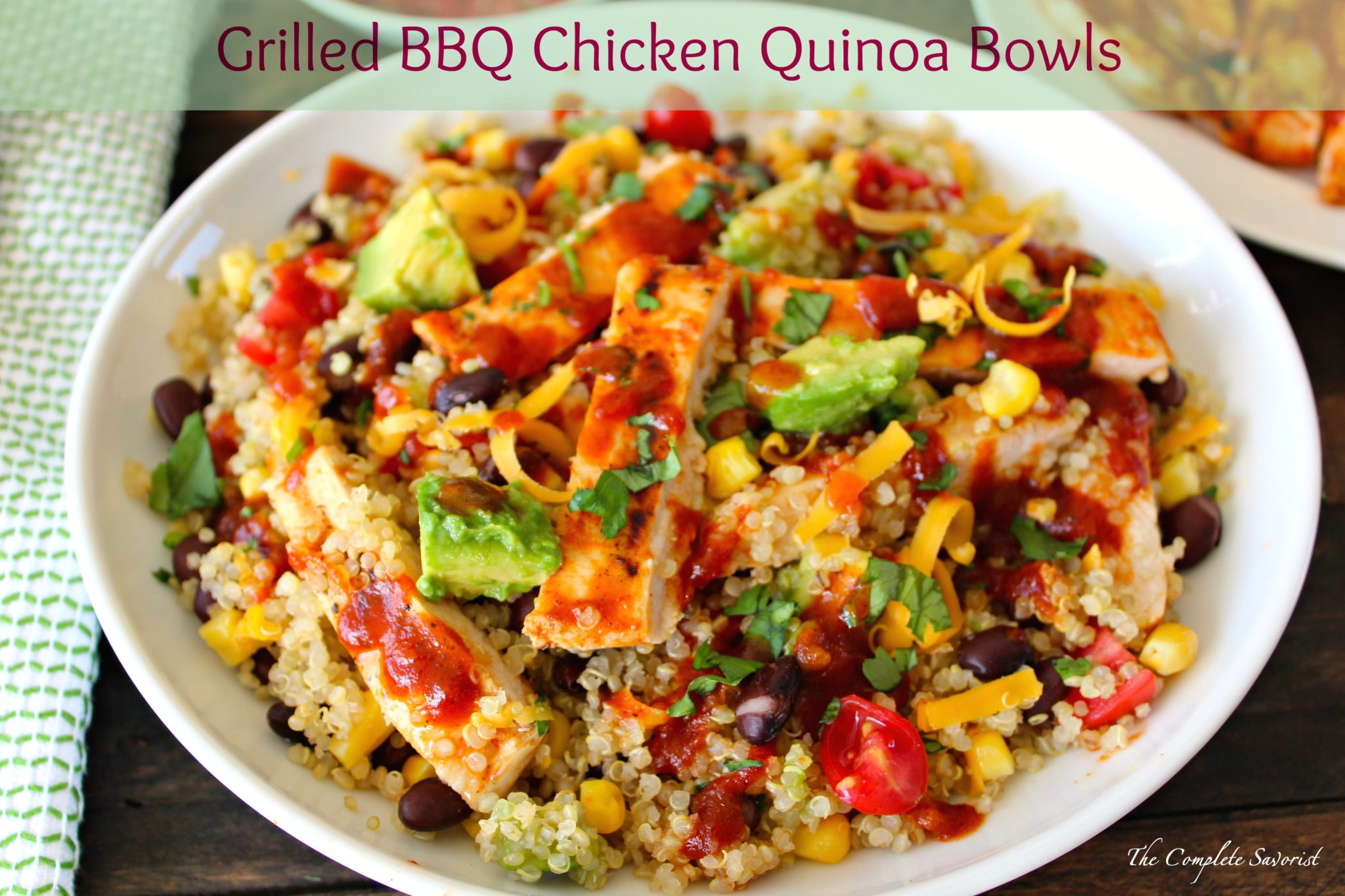 Grilled bbq chicken quinoa bowls 2a