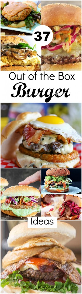 37 Out of the Box Burger Ideas ~ Burgers, burgers, and more burgers, from the classic beef burger to unique meatless options and everything in-between ~ The Complete Savorist #NationalGrillingMonth