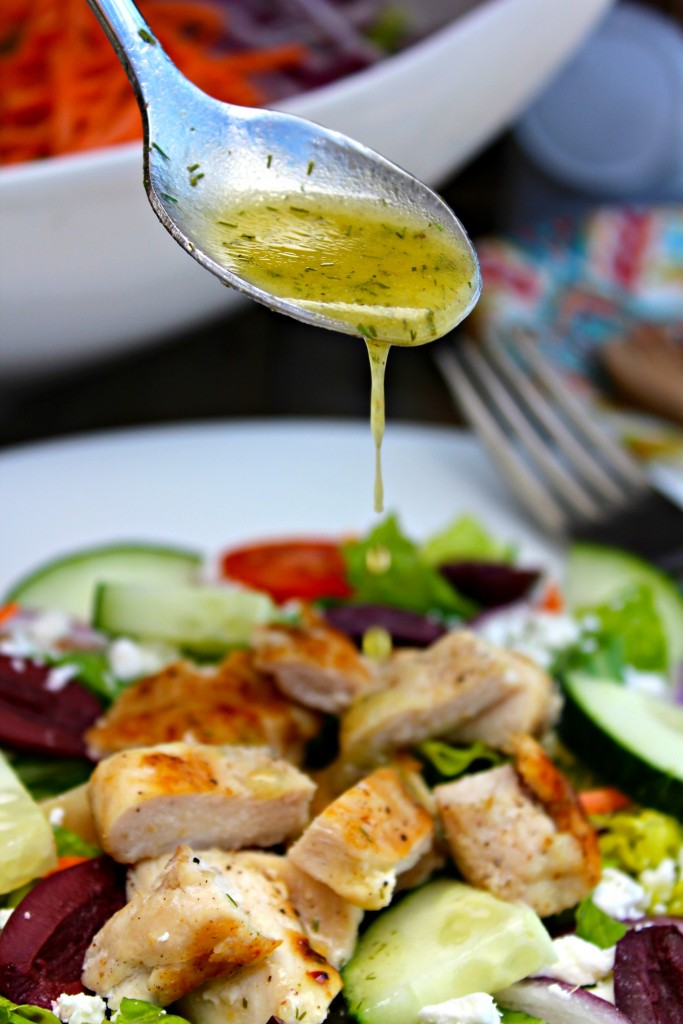 Grilled Chicken Greek Salad ~ Light, healthy, and delicious, grilled ...