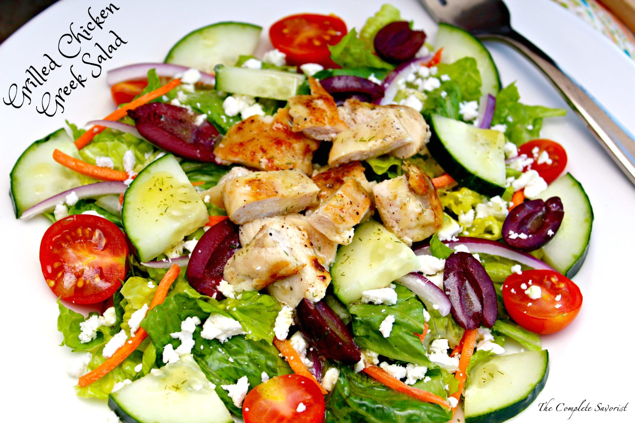 Grilled Chicken Greek Salad - The Complete Savorist