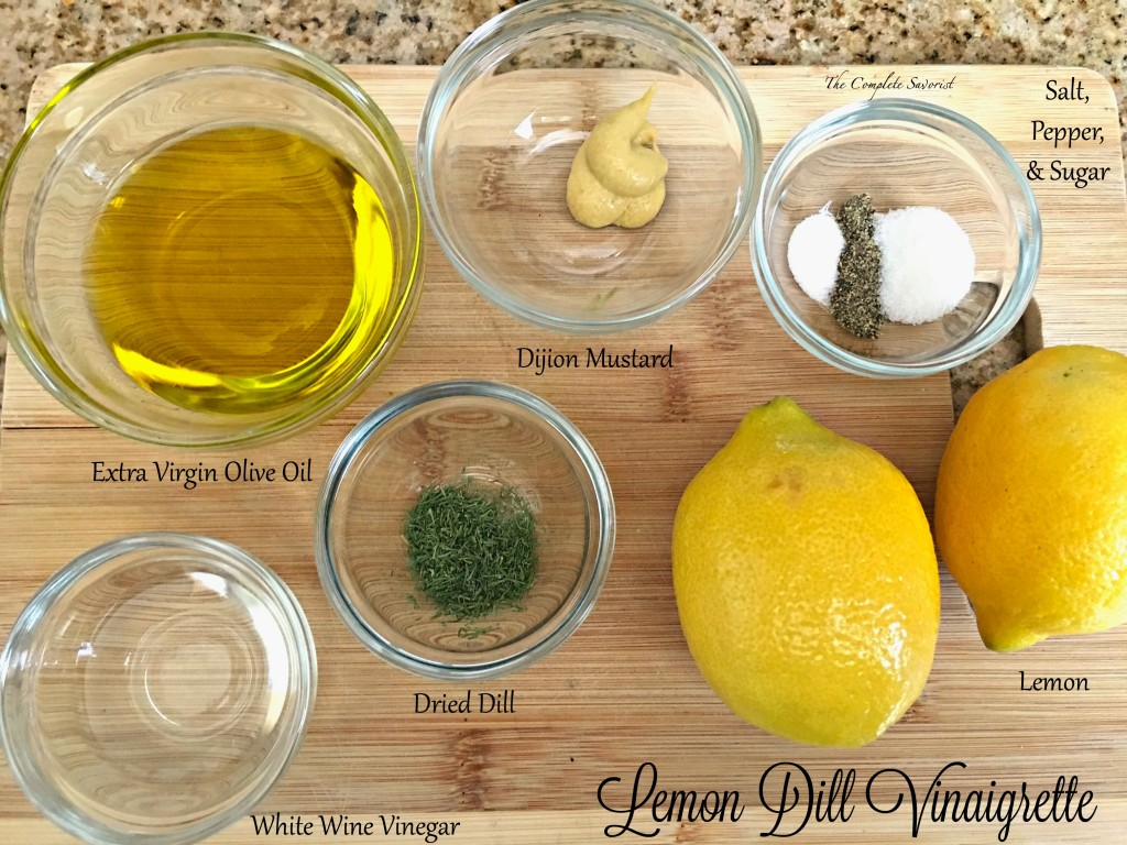 Lemon Dill Vinaigrette ~ Fresh and light, lemon dill vinaigrette is the perfect dressing for any salad with its herbaceous and citrus notes ~ The Complete Savorist