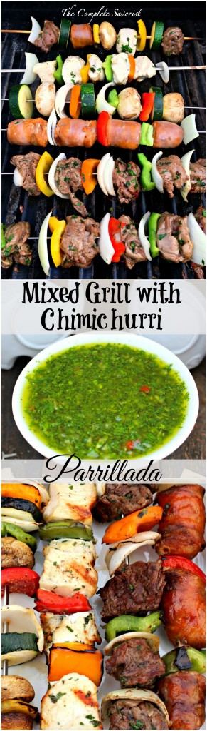 ... chicken, sausage and vegetables with fresh chimichurri ~ The Complete