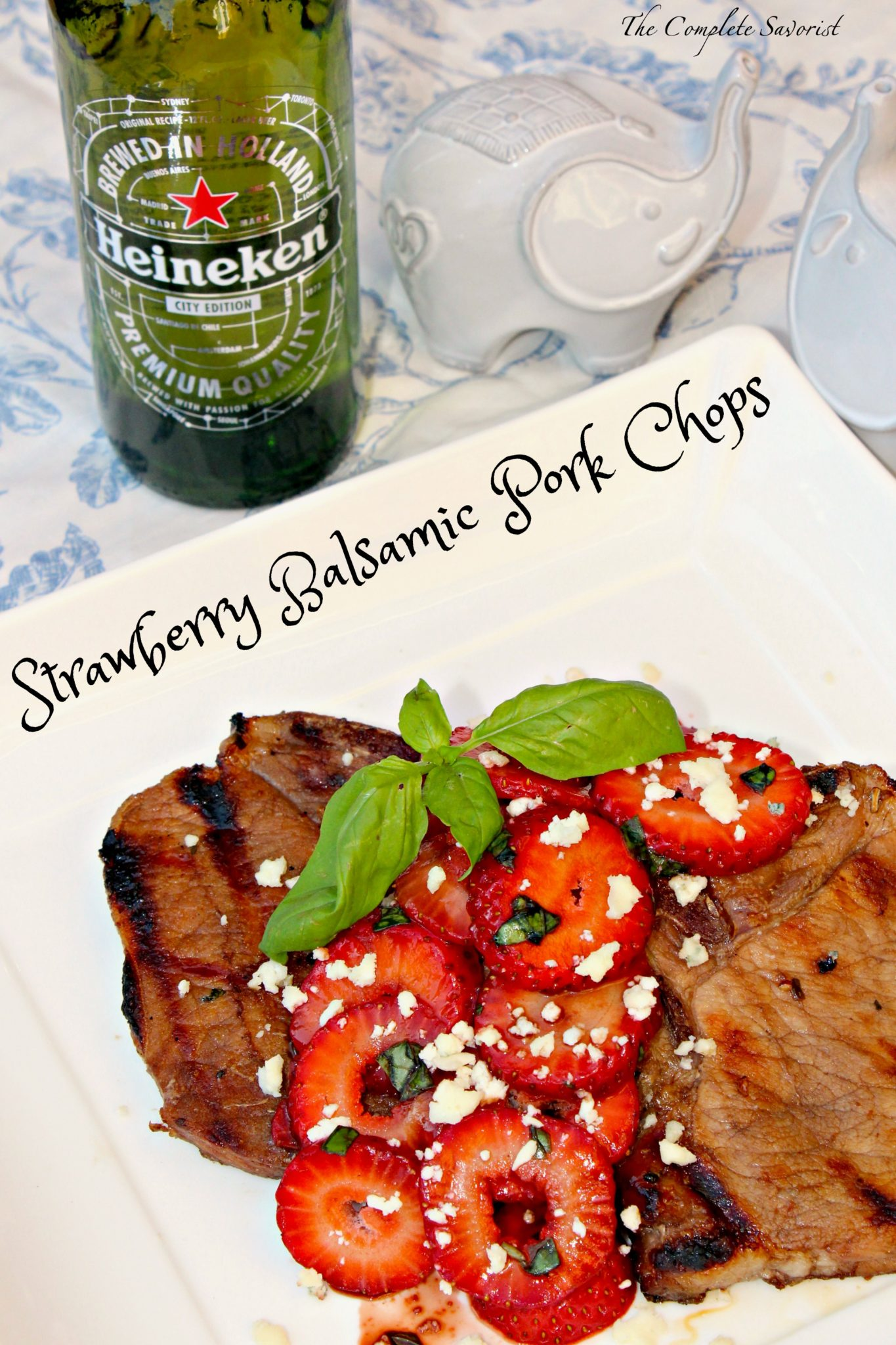 The Chops Had Been Marinated In A Balsamic Vinegar