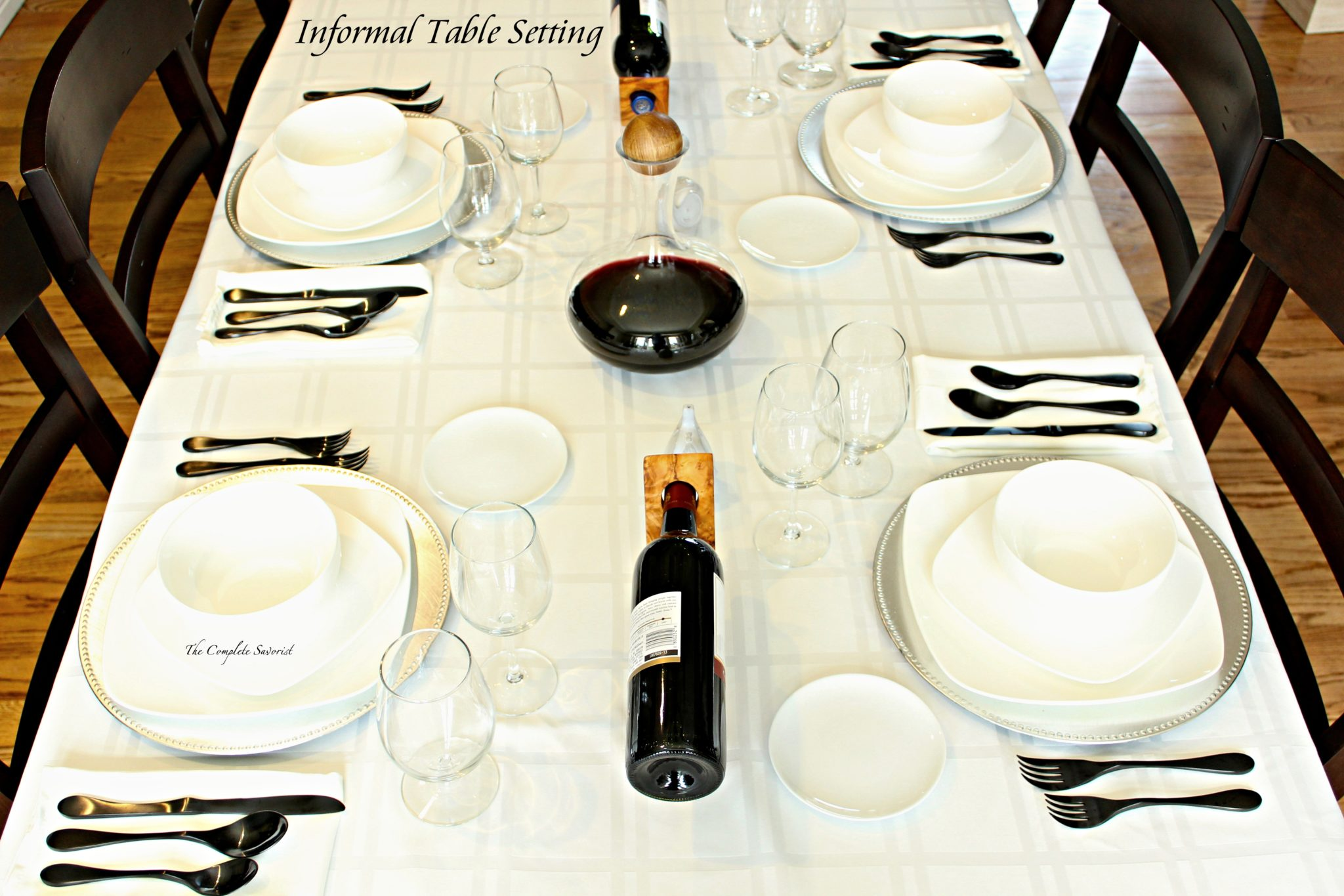 How To Set An Informal Table ~ The Table Setting May Be Called Informal,  But It Doesnu0027t Lack For Elegance In Its Simplicity.