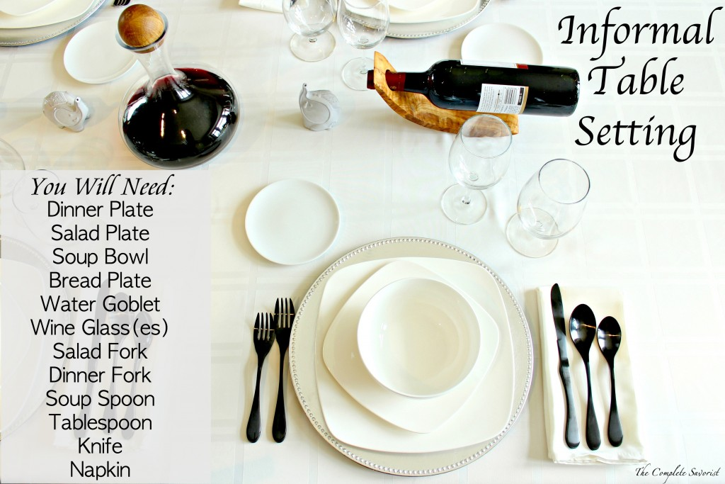 How to set an informal table the complete savorist for How do i set a table