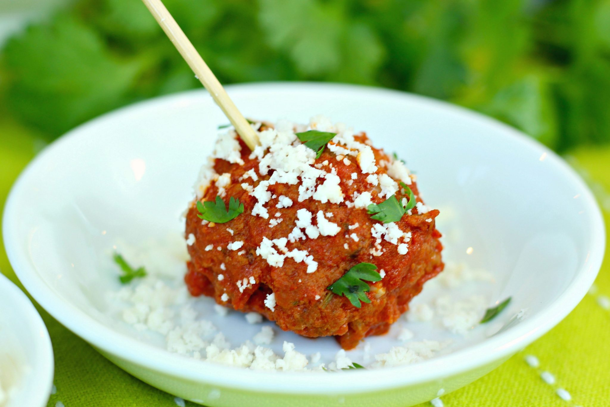Mexican Cocktail Meatballs ~ Switch up the standard cocktail meatball with a spicy Mexican twist, easily made and kept warm in the slow cooker ~ The Complete Savorist #goautentico #socu ad
