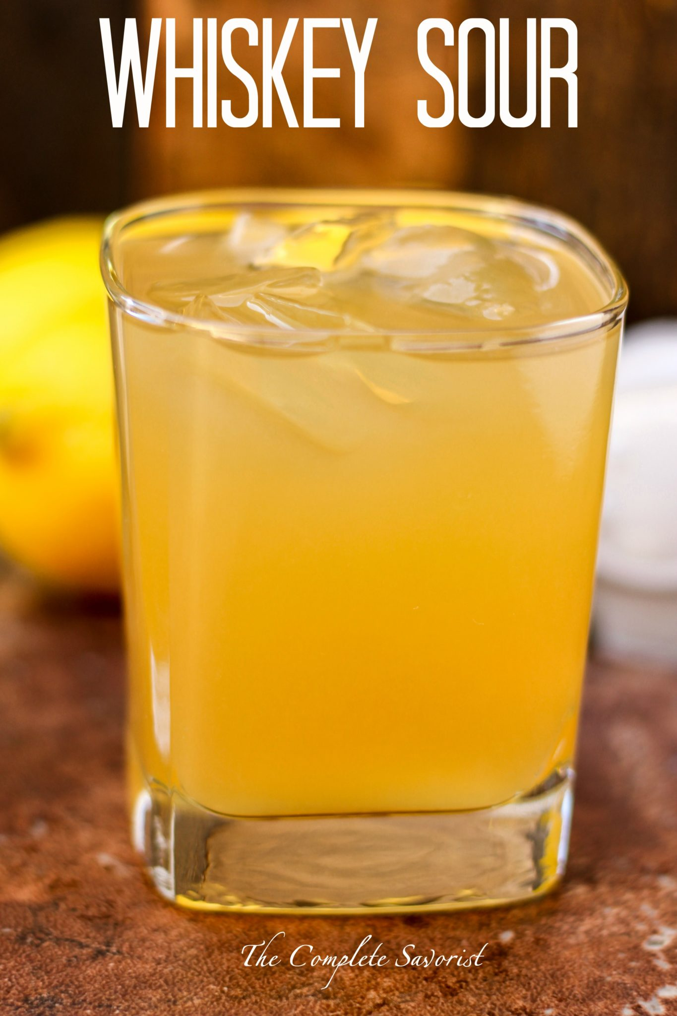 Whiskey Sour ~ The classic cocktail made easily at home sans the egg ...