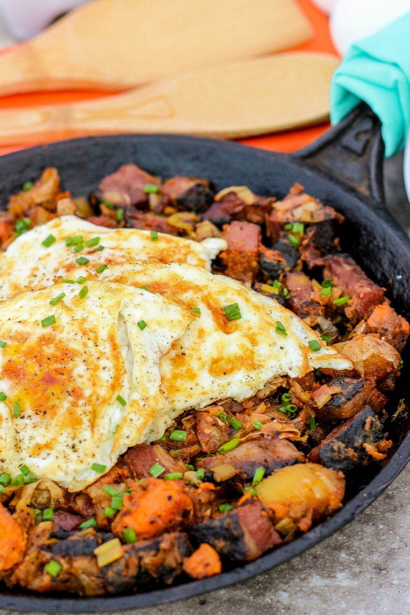 Sweet Potato Pastrami Hash ~ Classic hash updated with pastrami, sweet ...