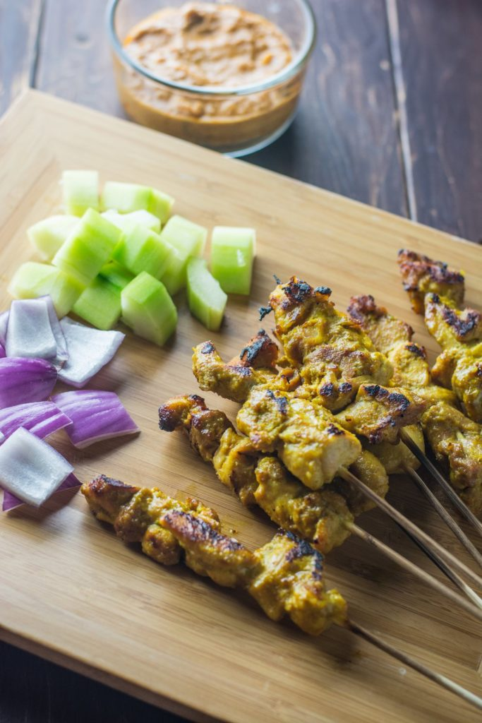 Malaysian Chicken Satay by Wok and Skillet